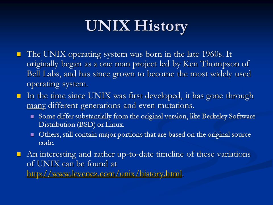 UNIX History