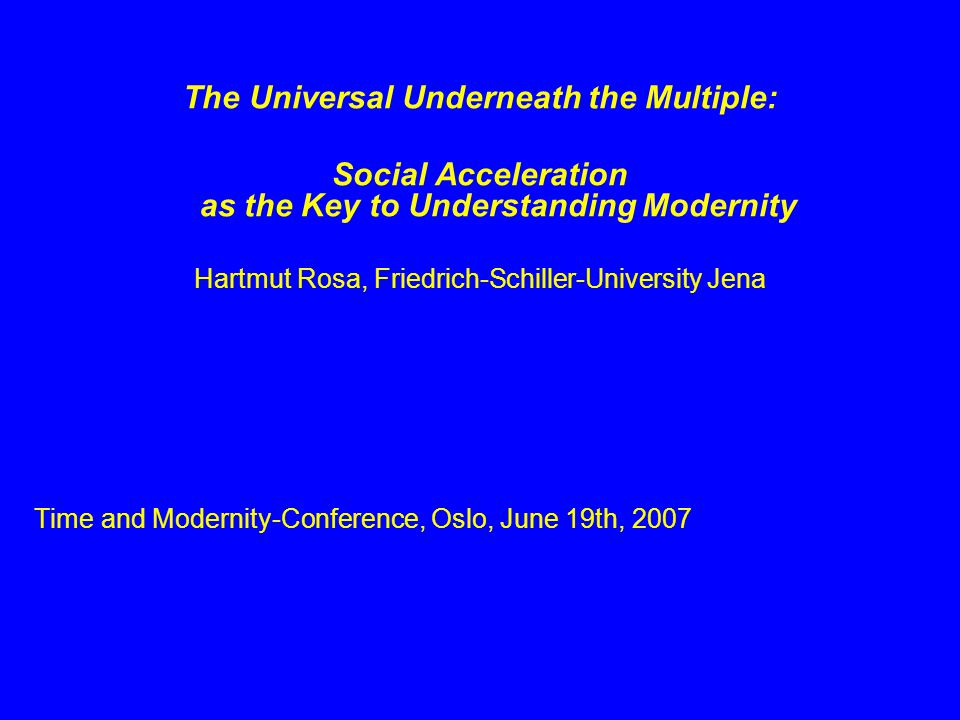 The Universal Underneath the Multiple: