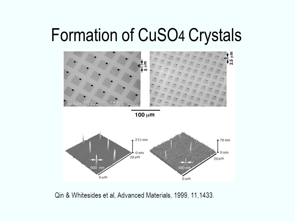 Formation of CuSO4 Crystals