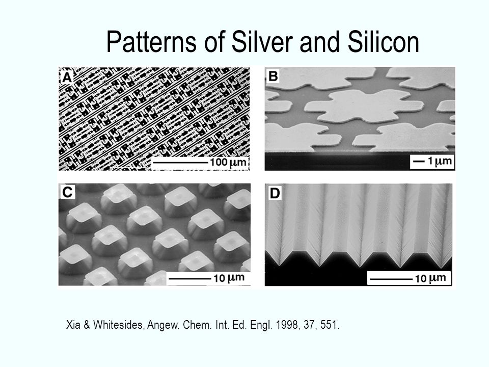 Patterns of Silver and Silicon