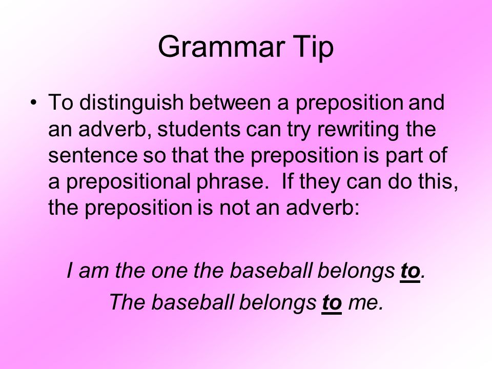 Grammar Tip