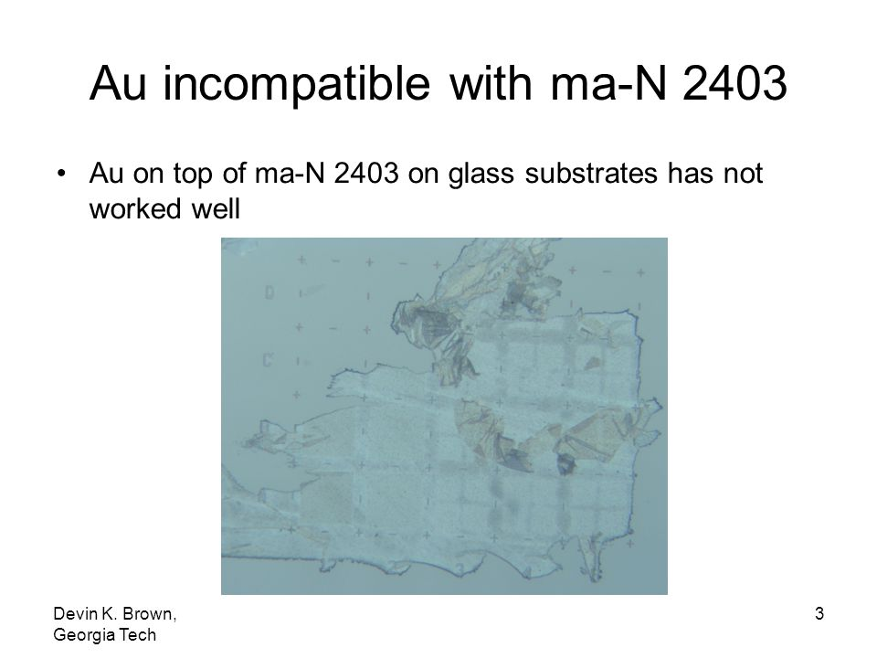 Au incompatible with ma-N 2403