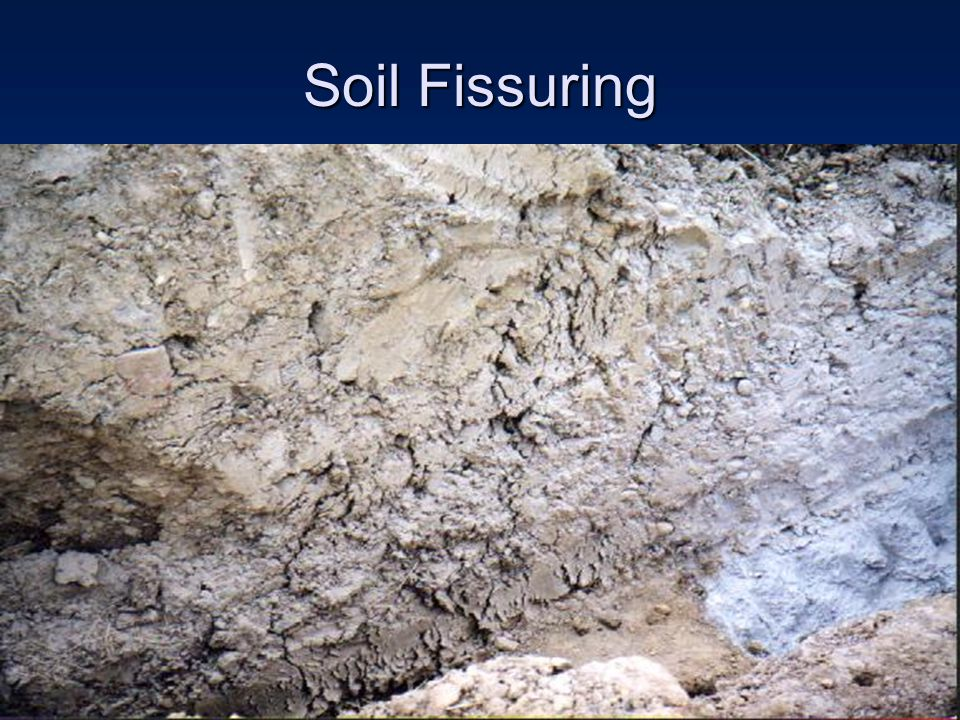 Soil Fissuring How soon will it fail
