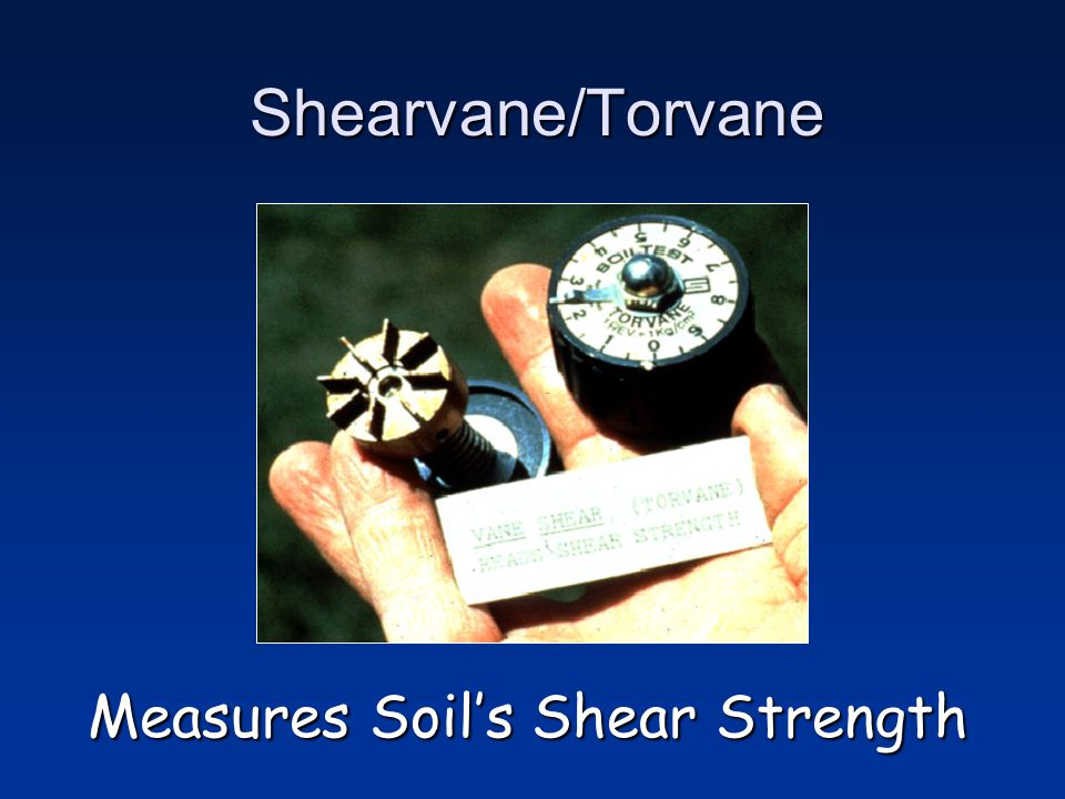 Measures Soil's Shear Strength