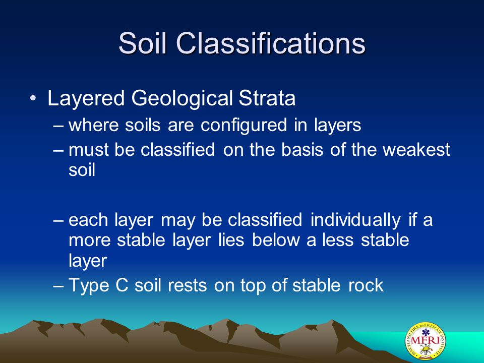 Soil Classifications Layered Geological Strata