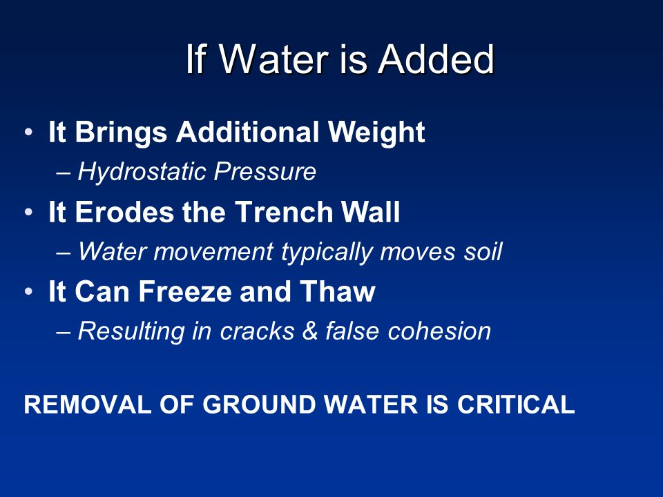 If Water is Added It Brings Additional Weight