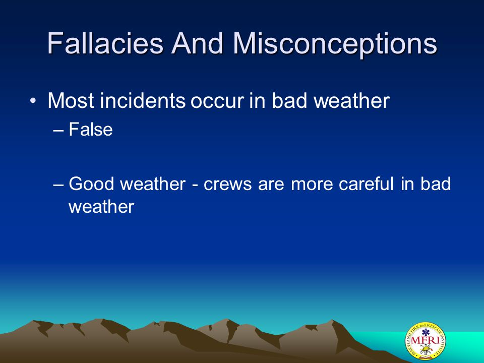 Fallacies And Misconceptions