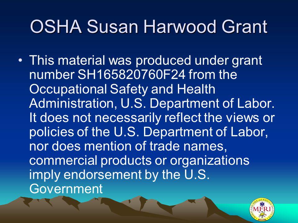 OSHA Susan Harwood Grant