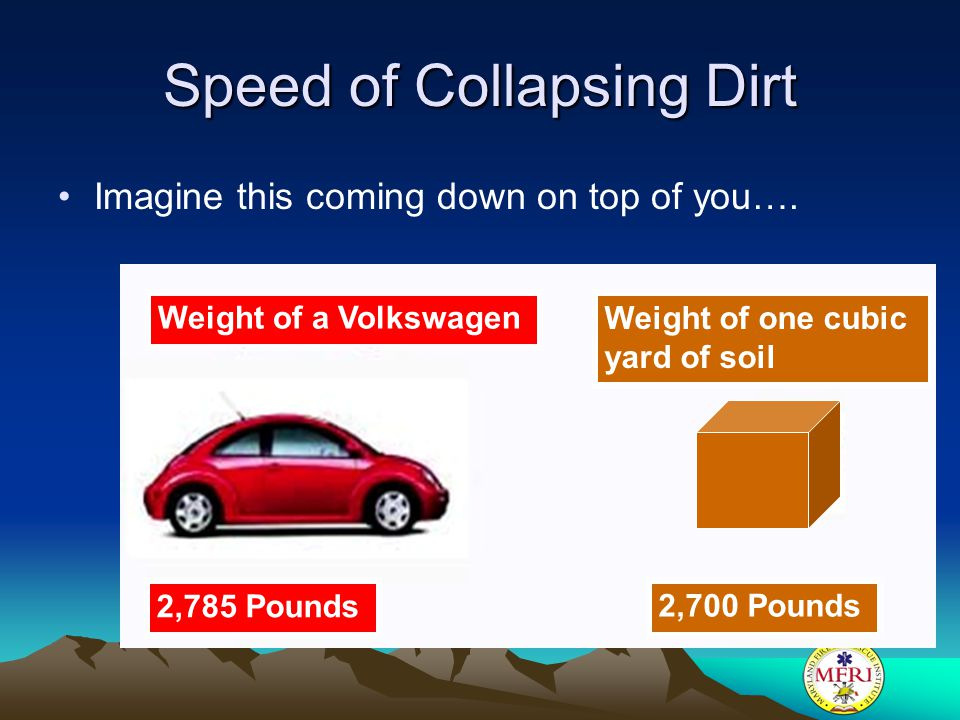 Speed of Collapsing Dirt
