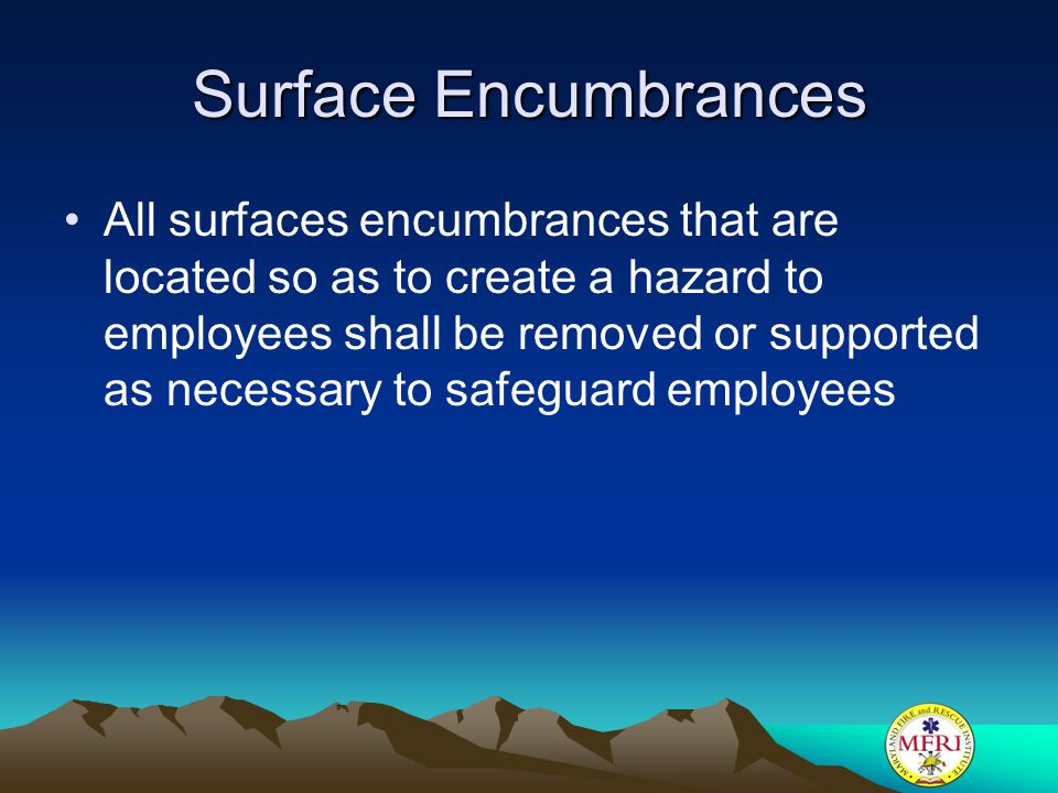 Surface Encumbrances