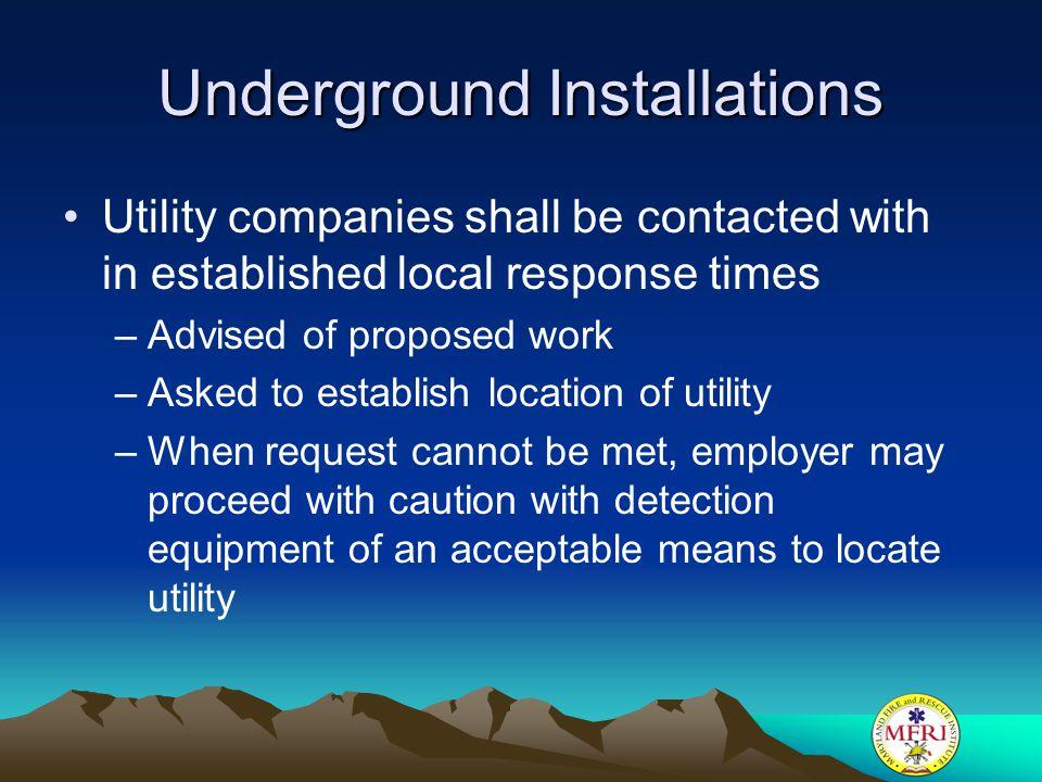 Underground Installations