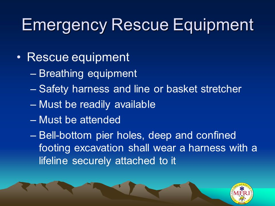 Emergency Rescue Equipment