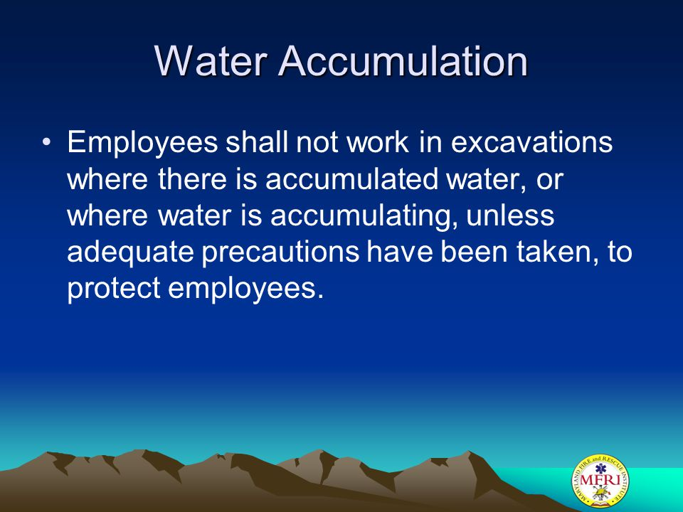 Water Accumulation