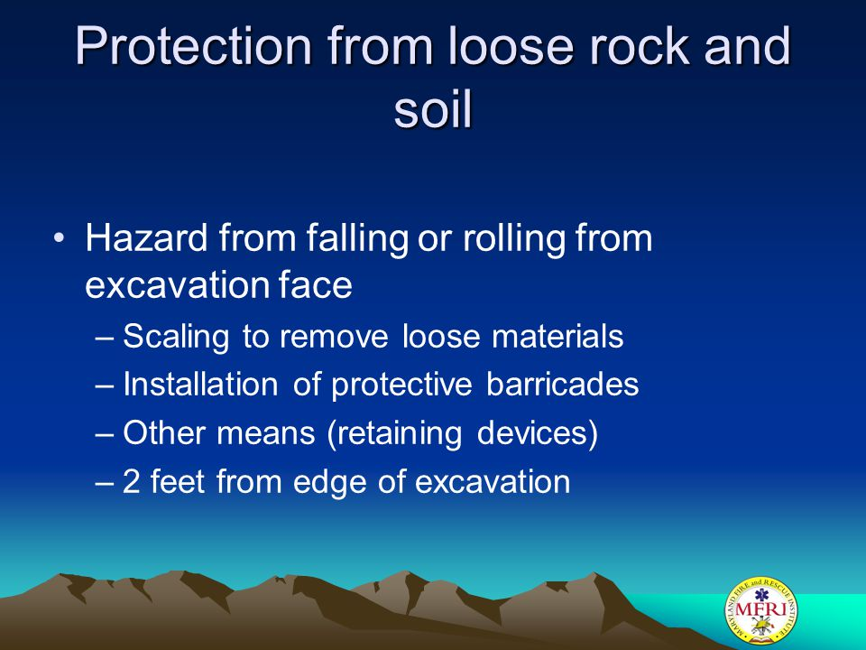 Protection from loose rock and soil