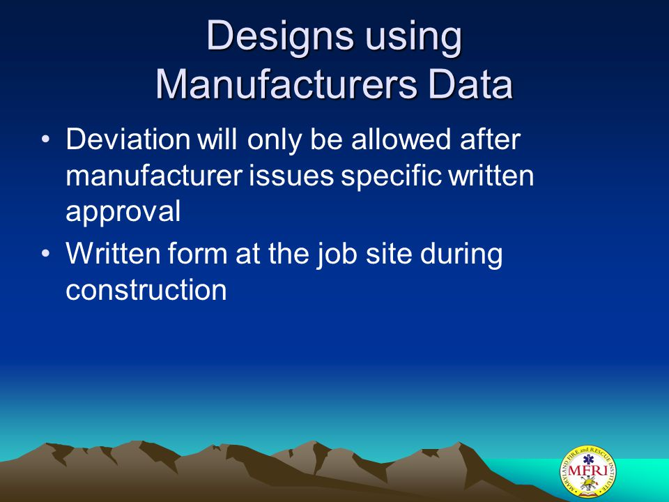 Designs using Manufacturers Data