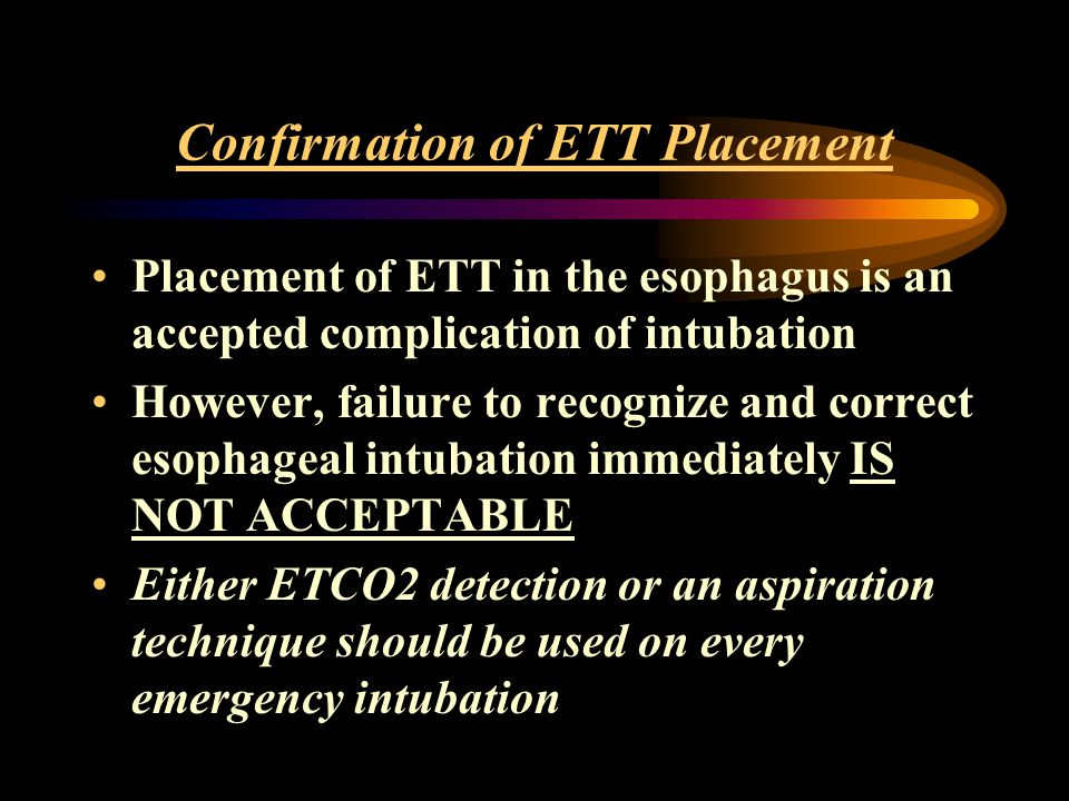 Confirmation of ETT Placement