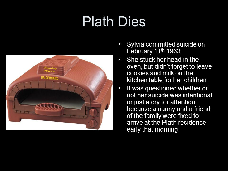 Plath Dies Sylvia committed suicide on February 11th 1963