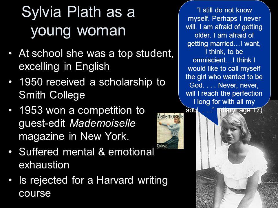 Sylvia Plath as a young woman