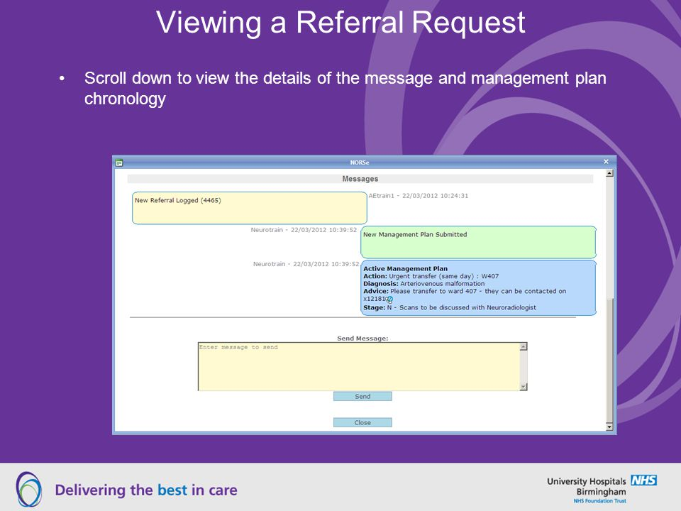 Viewing a Referral Request
