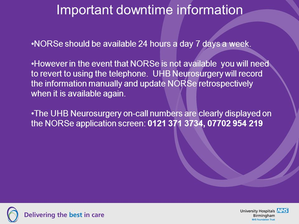 Important downtime information