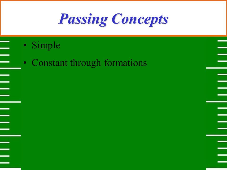 Passing Concepts Simple Constant through formations