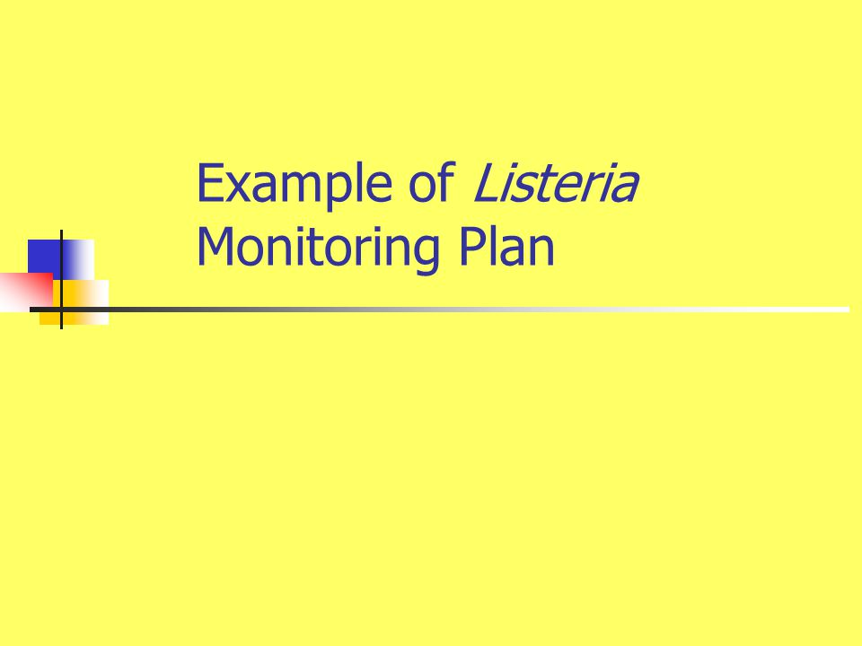 Example of Listeria Monitoring Plan