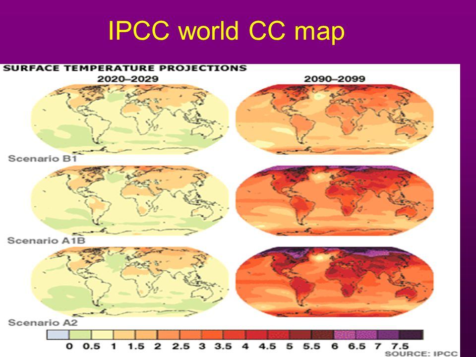 IPCC world CC map