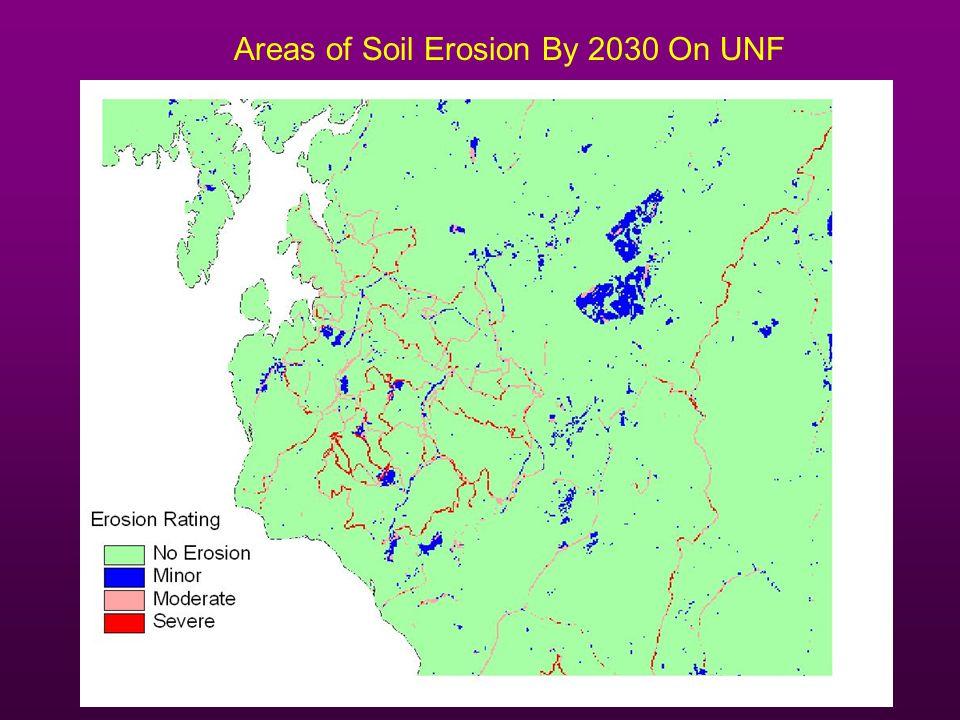 Areas of Soil Erosion By 2030 On UNF