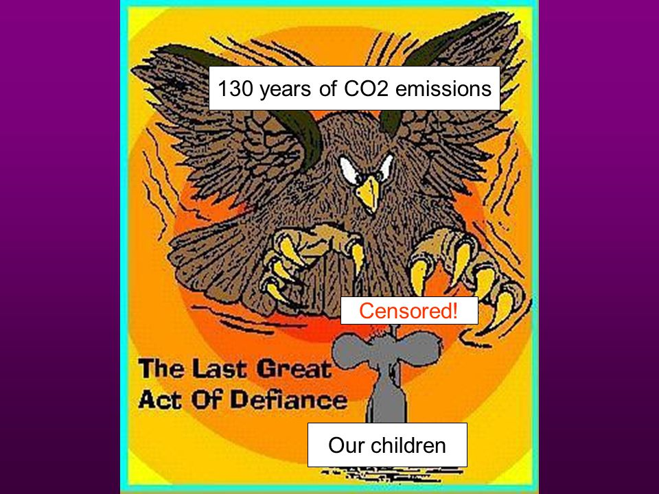 130 years of CO2 emissions Censored! Our children