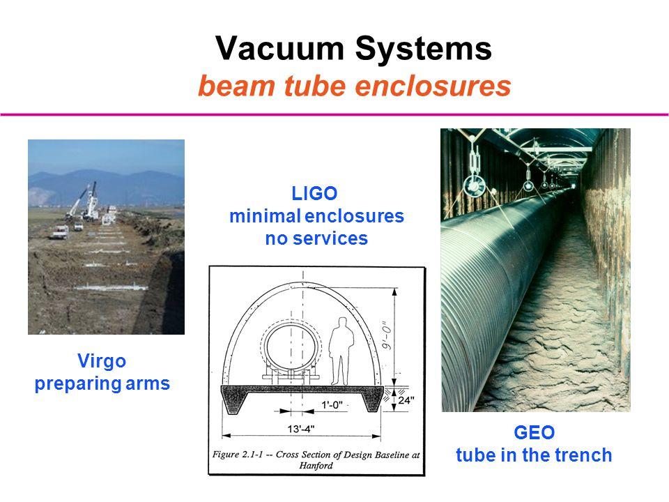 Vacuum Systems beam tube enclosures