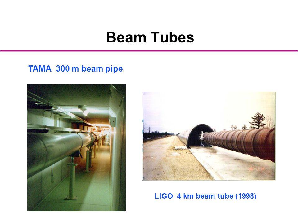 Beam Tubes TAMA 300 m beam pipe LIGO 4 km beam tube (1998)