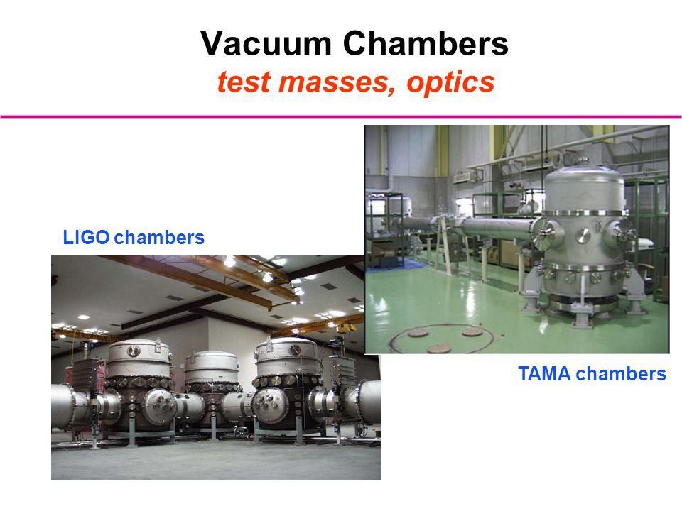 Vacuum Chambers test masses, optics