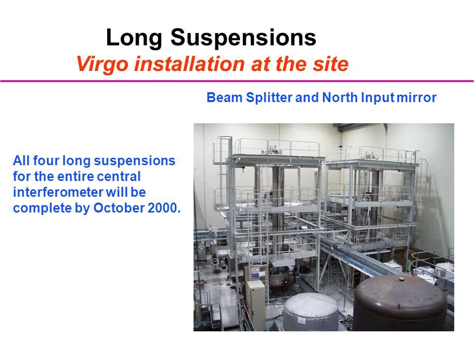 Virgo installation at the site
