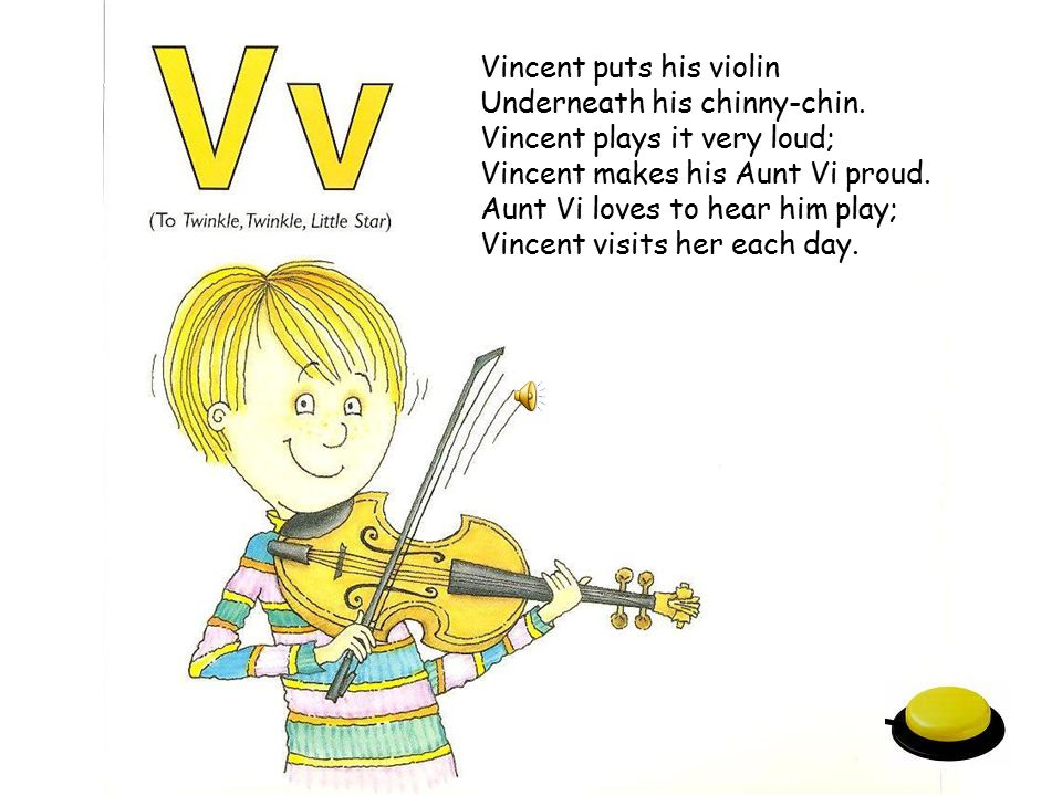 Vincent puts his violin