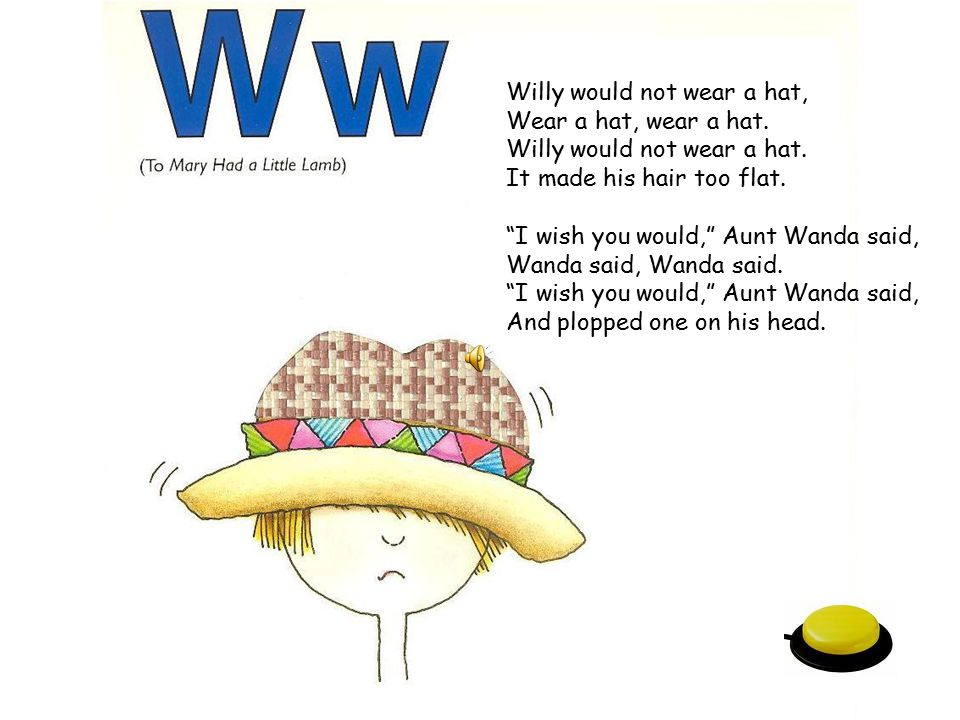 Willy would not wear a hat,