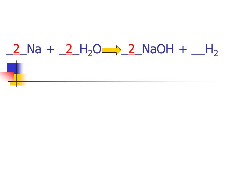 _2_Na + _2_H2O _2_NaOH + __H2