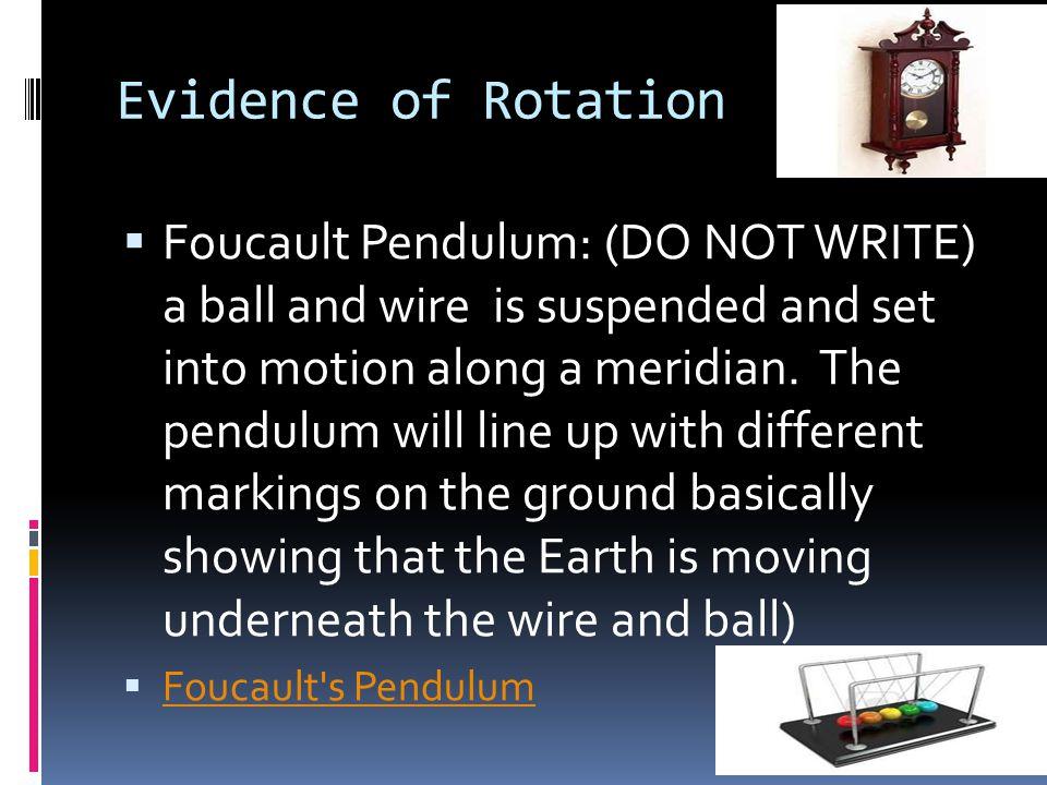 Evidence of Rotation