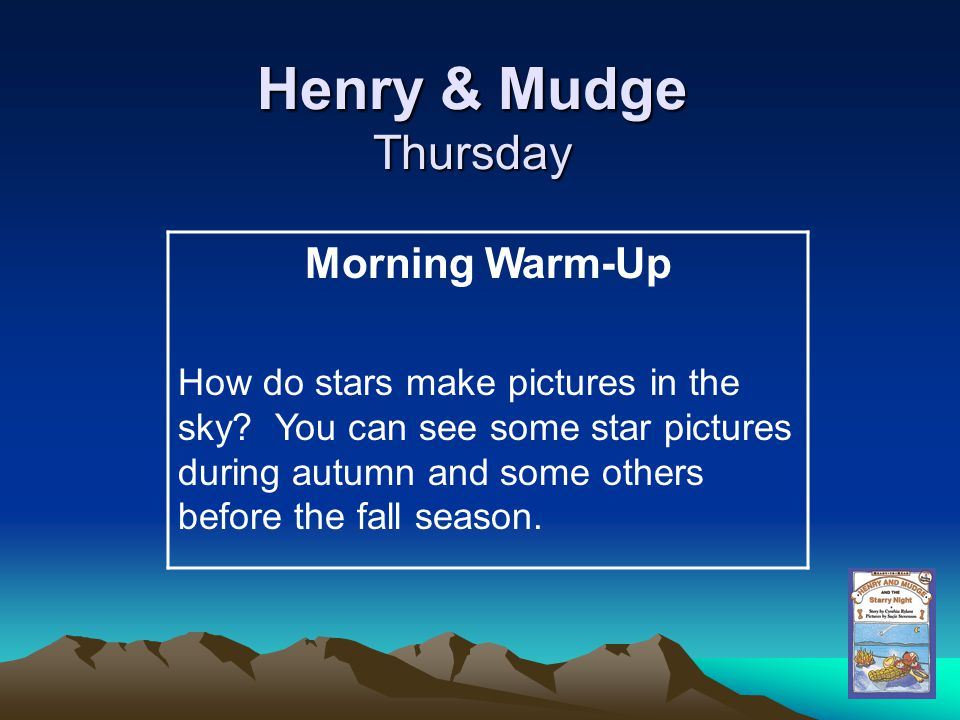 Henry & Mudge Thursday Morning Warm-Up