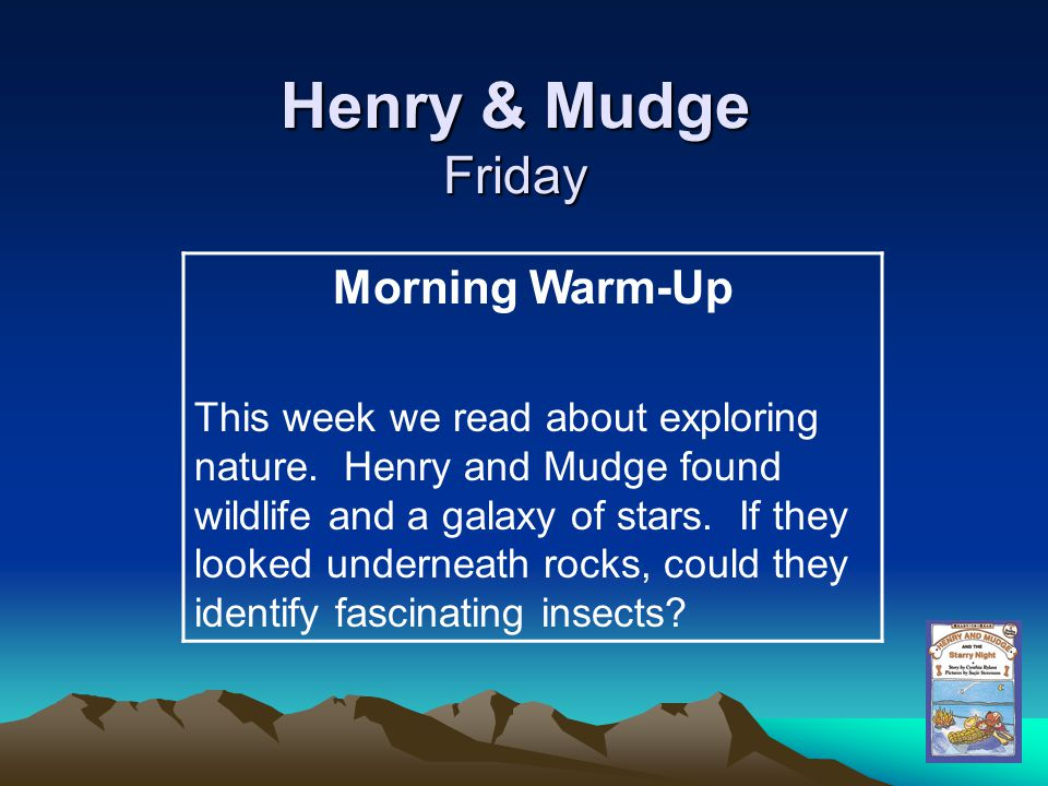 Henry & Mudge Friday Morning Warm-Up