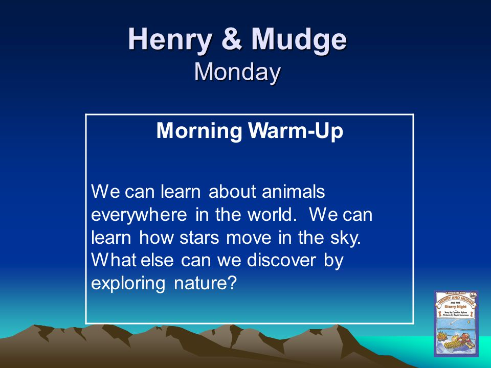 Henry & Mudge Monday Morning Warm-Up