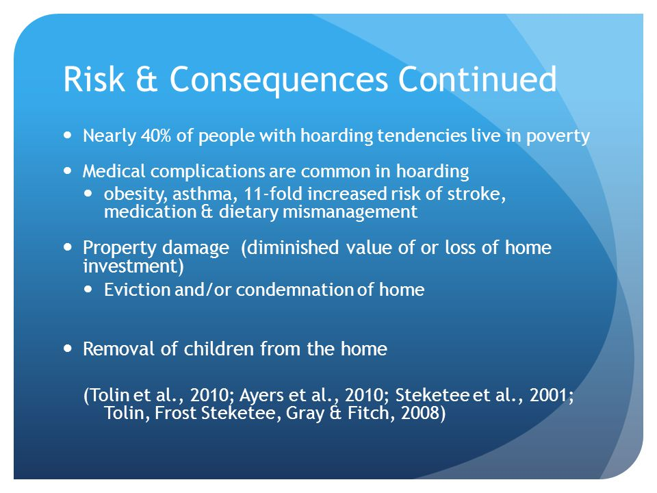Risk & Consequences Continued