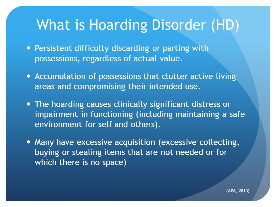 What is Hoarding Disorder (HD)
