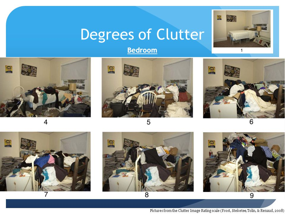 Degrees of Clutter Bedroom