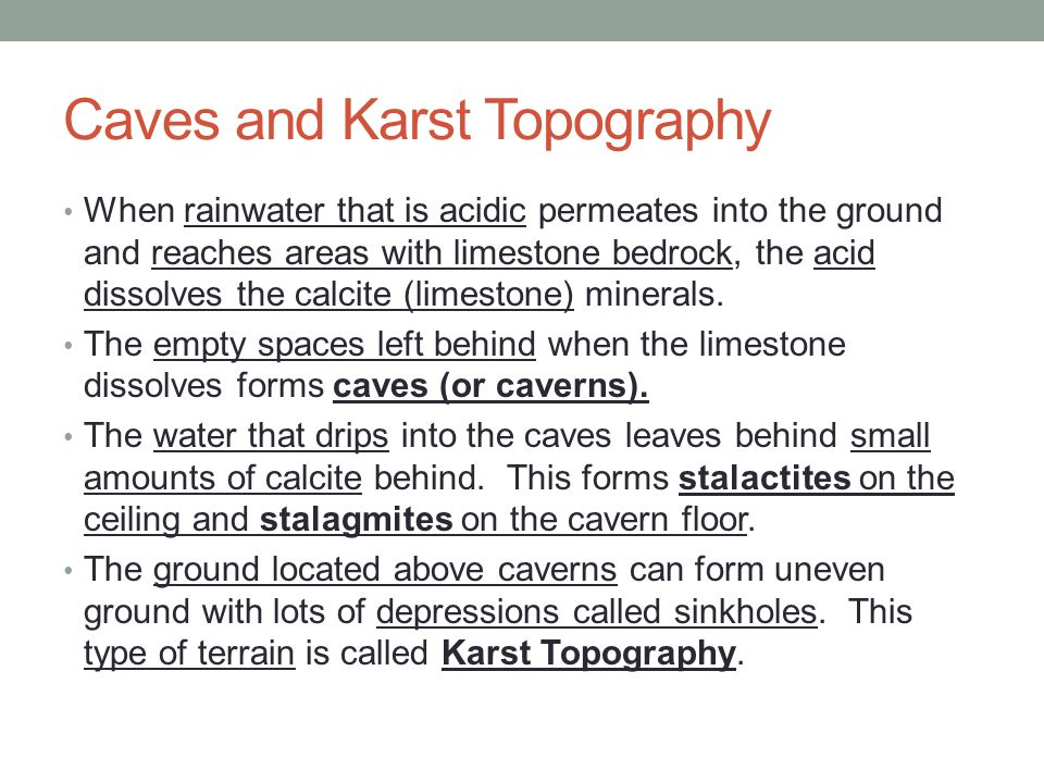 Caves and Karst Topography