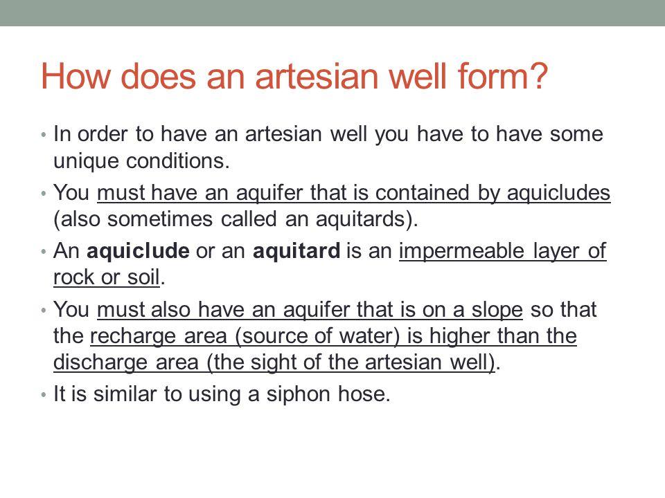 How does an artesian well form