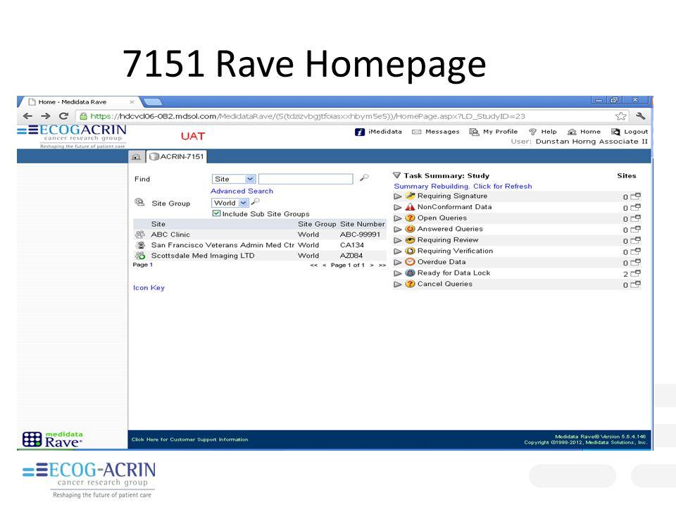 7151 Rave Homepage