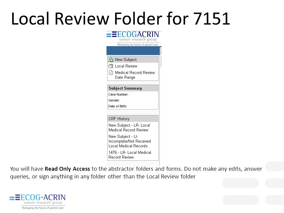 Local Review Folder for 7151
