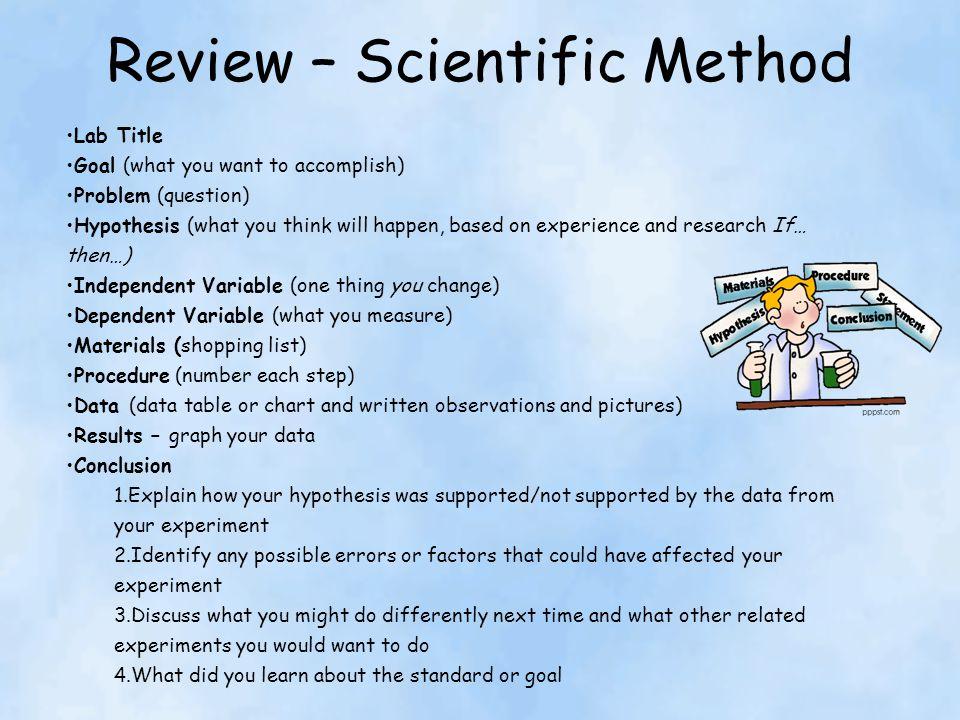Review – Scientific Method