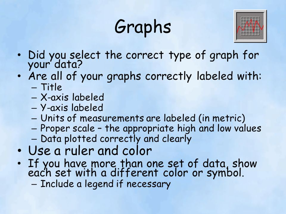 Graphs Use a ruler and color