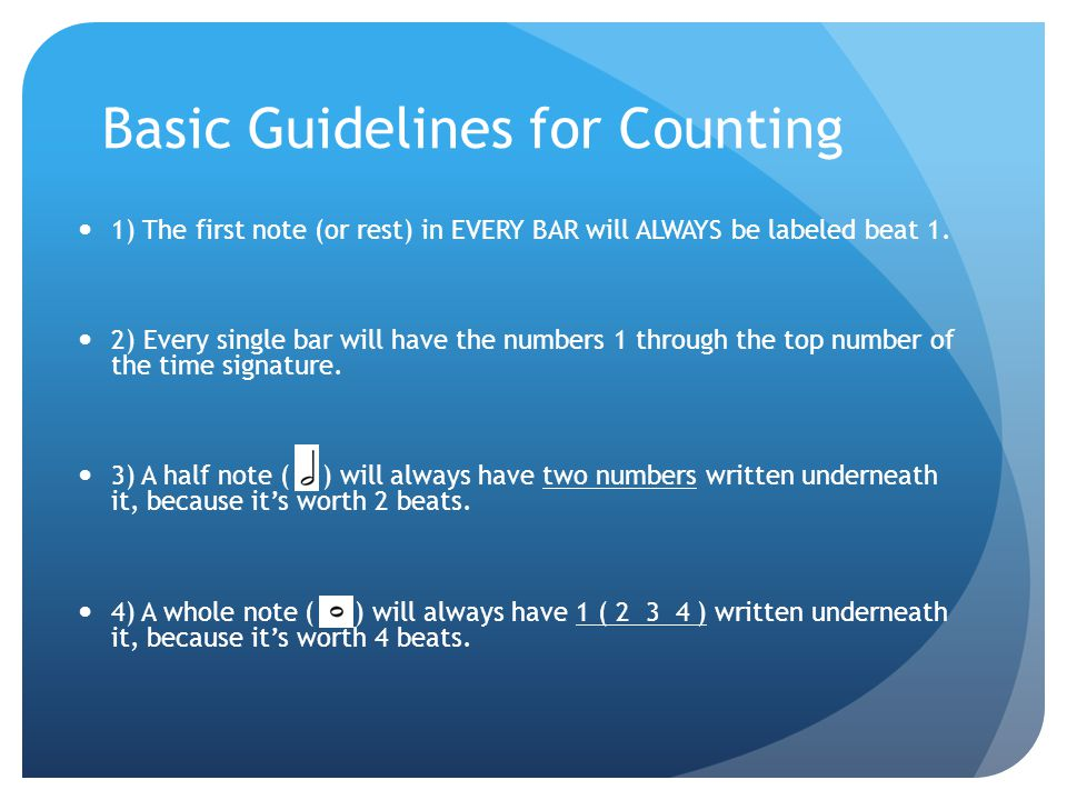 Basic Guidelines for Counting